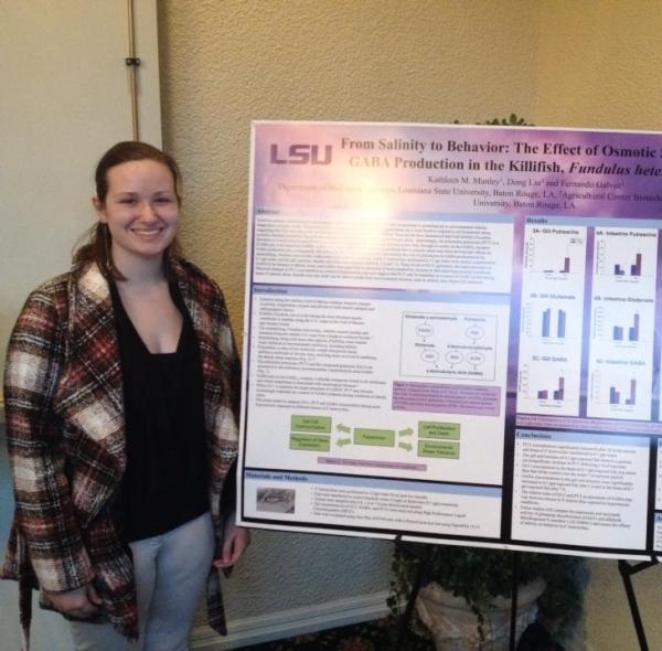 Presenting a poster at the 2015 Louisiana Environmental Education Symposium.