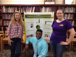 My EnvironMentors student, De'Marcus, presenting his research.