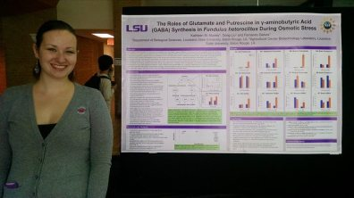Presenting my research at the 2014 LSU Biograds Symposium.