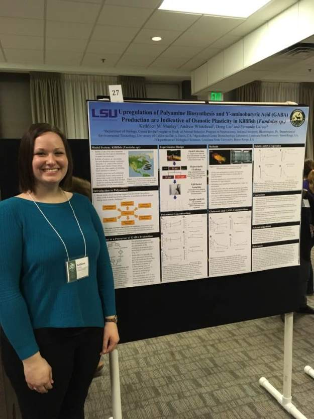 Presenting my masters research at the 2017 Animal Behavior Conference.