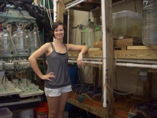 Standing next to my experimental setup for my undergraduate research project.