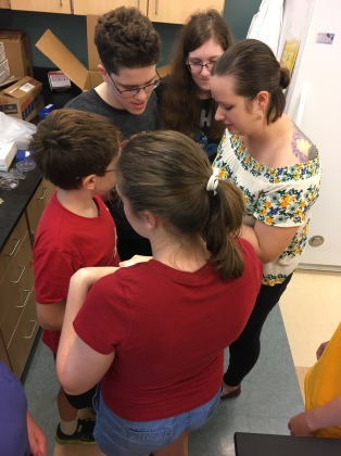Sharing my love of animals with students from my summer 2017 Foundations in Science and Mathematics Zoology class.