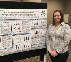 Presenting a poster at the 2018 Animal Behavior Conference.