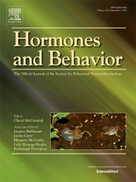 Hormones and Behavior Cover